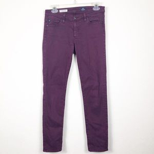 AG | The Stevie Ankle plum skinny pants | 27